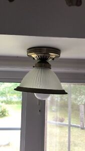 2 matching kitchen light fixtures