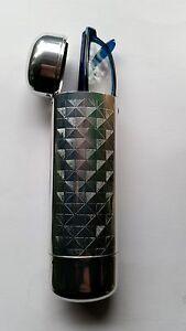 Design Metall Brillenetui mit Springdeckel Metalletui Silber Strukturoptik No1