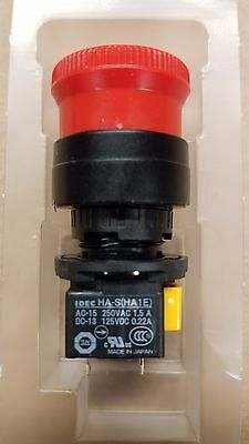 Idec Ha1e-v2s2r Emergency Push Button Switch E-stop Dpst Twist Reset