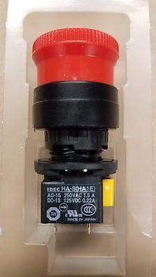 Idec Ha1e-v2s2r Emergency Push Button Switch E-stop Dpst Twist Reset