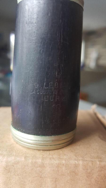 LeBlanc FRANCE La Couture Boussey Wood Clarinet Barrel Vintage 63mm RARE
