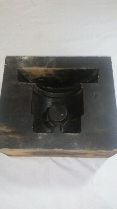 VTG INTRICATE WOOD Block FOUNDRY CASTING PATTERN  MOLD INDUSTRIAL Decor