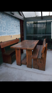 Redgum outdoor table