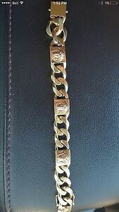 80 gram Versace custom made amazing solid gold braclet