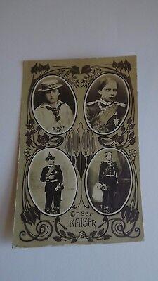 Kaiser Wilhelm  as a Boy Original vintage Postcard 4 Portraits