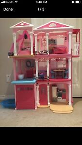 Barbie Doll house like new with Box