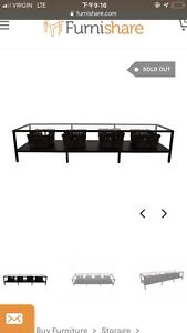 IKEA glass TV bench for sale