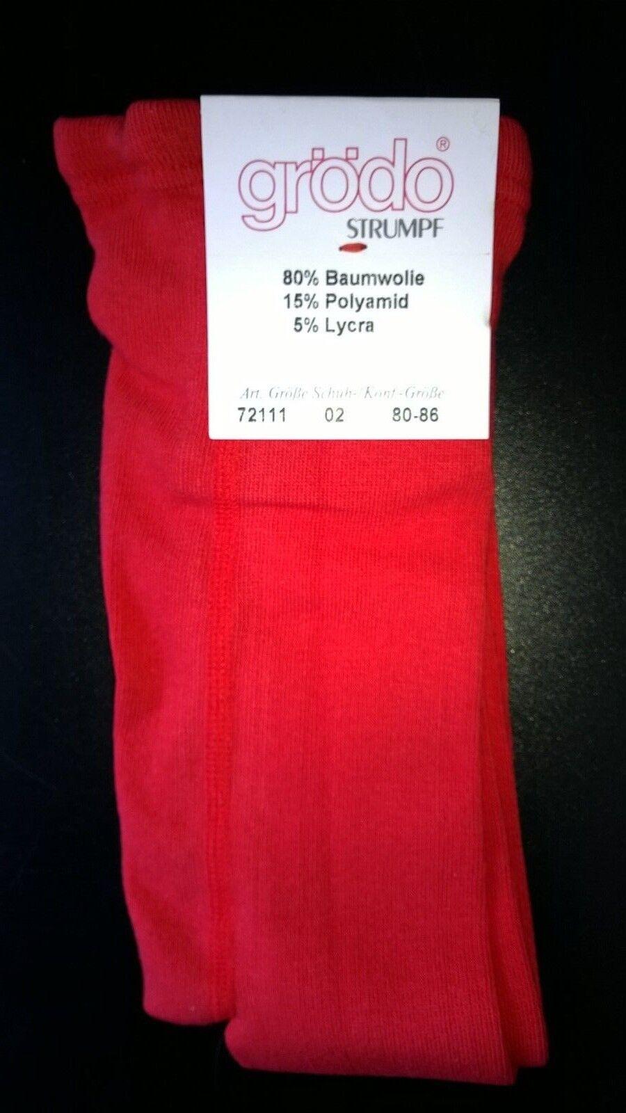 Kinderstrumpfhosen aus deutscher Herstellung Größe 80-86 in rot