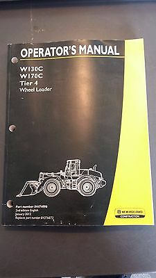 New Holland W130c W170c Wheel Loader Operators Manual