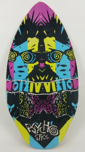 "RARE Vintage Wood Skimboard Boogie Skim Board Vision Psycho Stick 37"" x 18.5"""
