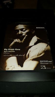 Big Daddy Kane Taste Of Chocolate Rare Original Promo Poster Ad Framed!