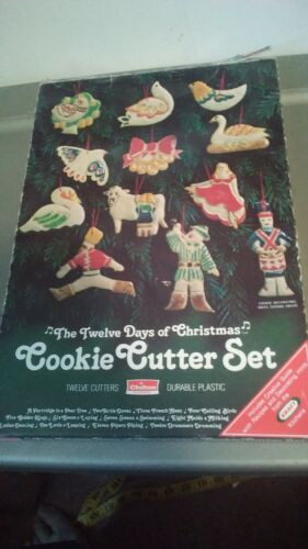Vintage 1978 Chilton The Twelve Days Of Christmas Cookie Cutter Set of 12