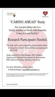 *Update CaringAhead: Families and End-of-life in Dementia