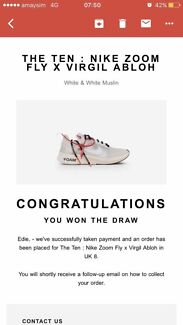 Wanted: WANT TO BUY ANY OFF WHITE X NIKE COLAB SIZE 10-10.5