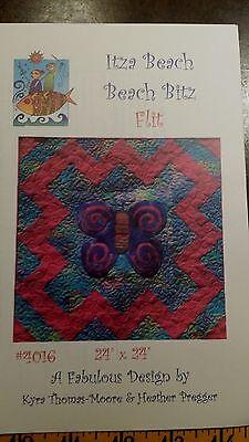 ITZA BEACH BEACH BITZ FLIT BUTTERFLY QUILT PATTERN FREE SHIPPING   - Free Butterfly Quilt Patterns