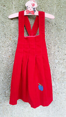 Rainbow Creek Girl's Dress Size 6 Red Cotton Corduroy Jumper
