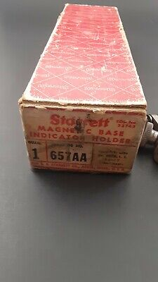 Starrett Magnetic Base Indicator Holder Less 14 Rod.