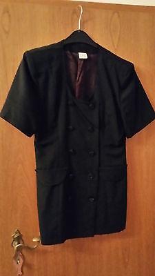 Kleid 2-teilig Rock Chiffon und Jacke kurze Arme Gr. M schwarz festlich schick  Chiffon Kurze Kleid Rock