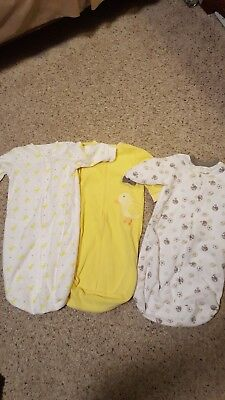 3 Carters Baby Sleepers Warm One Size 0-9 Months