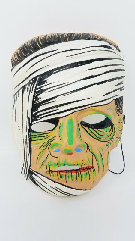 1963 Ben Cooper MUMMY Halloween Costume Glo-in-The-Dark Mask