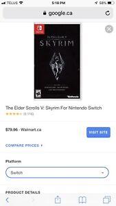 Skyrim for Nintendo Switch