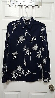 H&M Button Down Navy blue Shirt Size Small