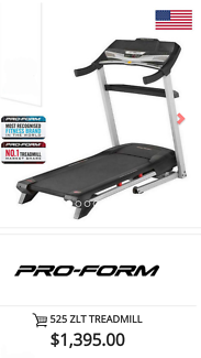 Proform 525zlt Treadmill. CHEAPEST PRICES GUARANTEED. AS NEW