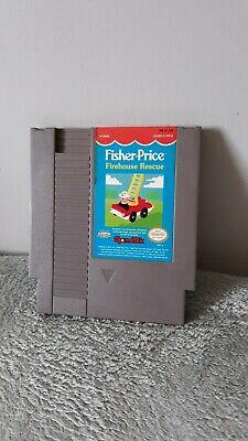 Fisher price firehouse rescue Nintendo NES Cleaned Tested Working vtg video game