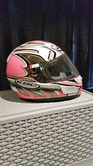 Xs pink motorcycle helmet
