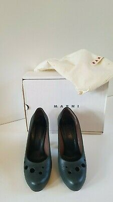 Marni escarpins verts foncés / dark green shoes