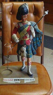 Vintage Original Dewar's Highlander AdvertiseFigure