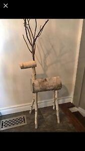 Handcrafted wood reindeer-Christmas