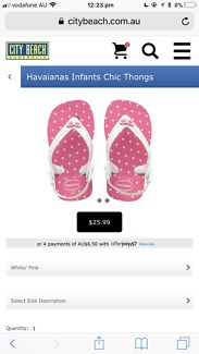 2dabf1ade5ce45 Infant Girls Havaianas - Never been worn size USA 6