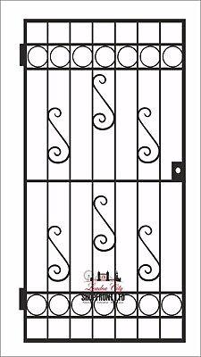 HEAVY DUTY GATE /WROUGHT IRON GATE / GATE. METAL GARDEN SIDE GATE / GARDEN GATE