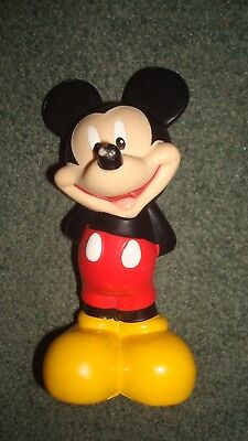 5 DISNEY plastic figurines, Minnie mouse, Mickey Mouse....... About 9-13 cm in l