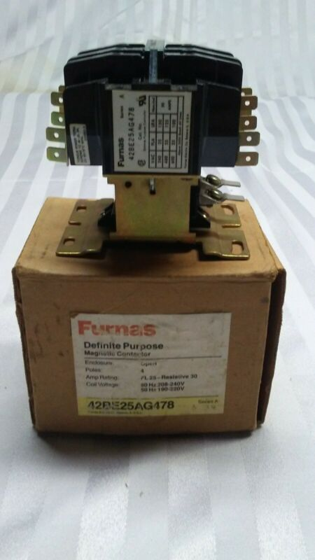 Furnas Magnet Contactor 42BE25AG478 Series A 4 Pole