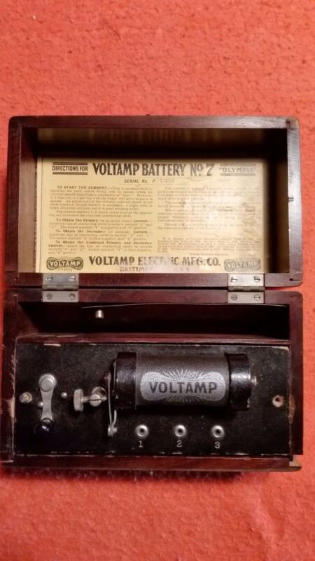 "Voltamp Battery No. 7 ""Olympia"" Antique Electrotherapy Device"