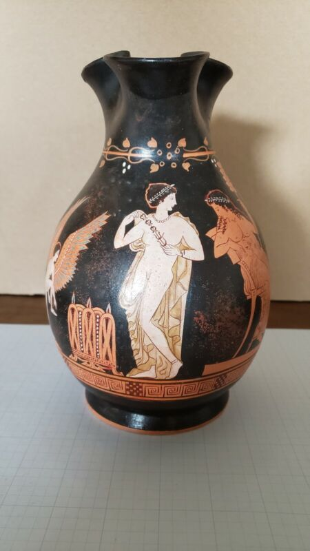 G. Leouleos Greek Vase Reproduction. Pompe dressing for Dionysian Festival