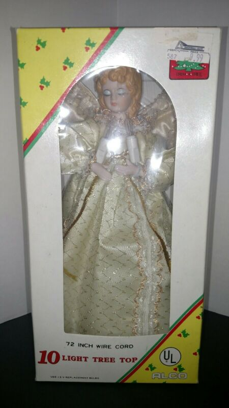 """Vintage 10 Light Porcelain Angel Tree Top 9"""""""
