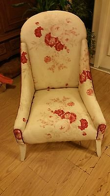 1: Newly upholstered French Victorian Bedroom Chair