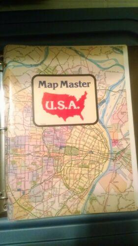 Maps USA Map Master States 1970s w/binder