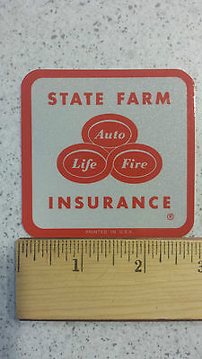 State Farm Insurance Vintage Reflective Bumper Sticker Decal 2 75