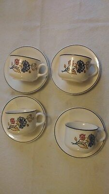 BOOTS CAMARGUE CUP AND SAUCERS X4