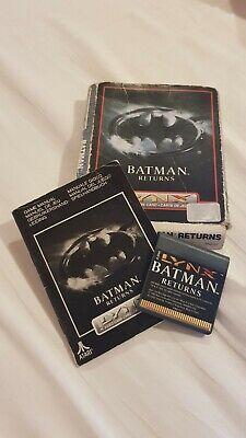 BATMAN RETURNS - ATARI LYNX BOXED AND COMPLETE