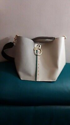 See by Chloe Gaia Bag. Beige.Bucket Bag.color block Leather Strap. Retail $520