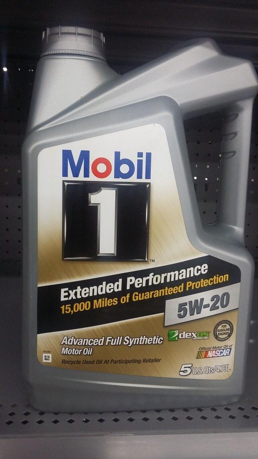 Mobil 1 extended performance 5w 20 motor oil 5 quarts for Sales on motor oil