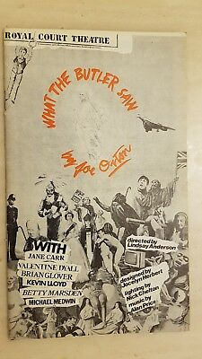 THEATRE PROGRAMME WHAT THE BUTLER SAW MICHAEL MEDWIN JANE CARR BETTY MARSDEN