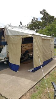 Annexe and awning