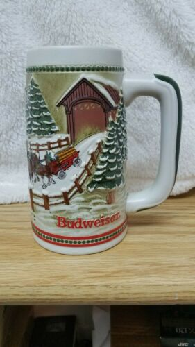 1984 Limited Edition Budweiser Clydesdales Holiday Beer Stein Stein/mug/cup