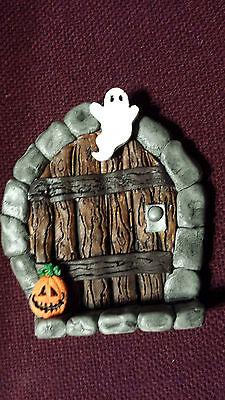 Halloween FAIRY DOOR/ Gnome door for FAIRY - Door Decorating For Halloween
